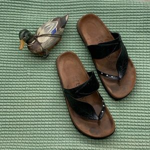 Birkenstock Bombay Leaf Black Sandals -For Sharon